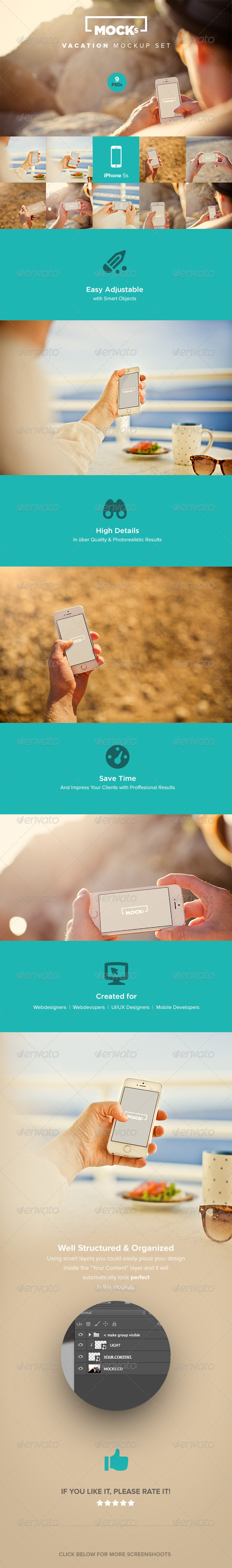 GraphicRiver Photorealistic iPhone Mockup Templates 8118721