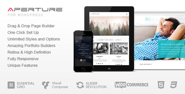 Aperture - Full Featured WordPress Theme
