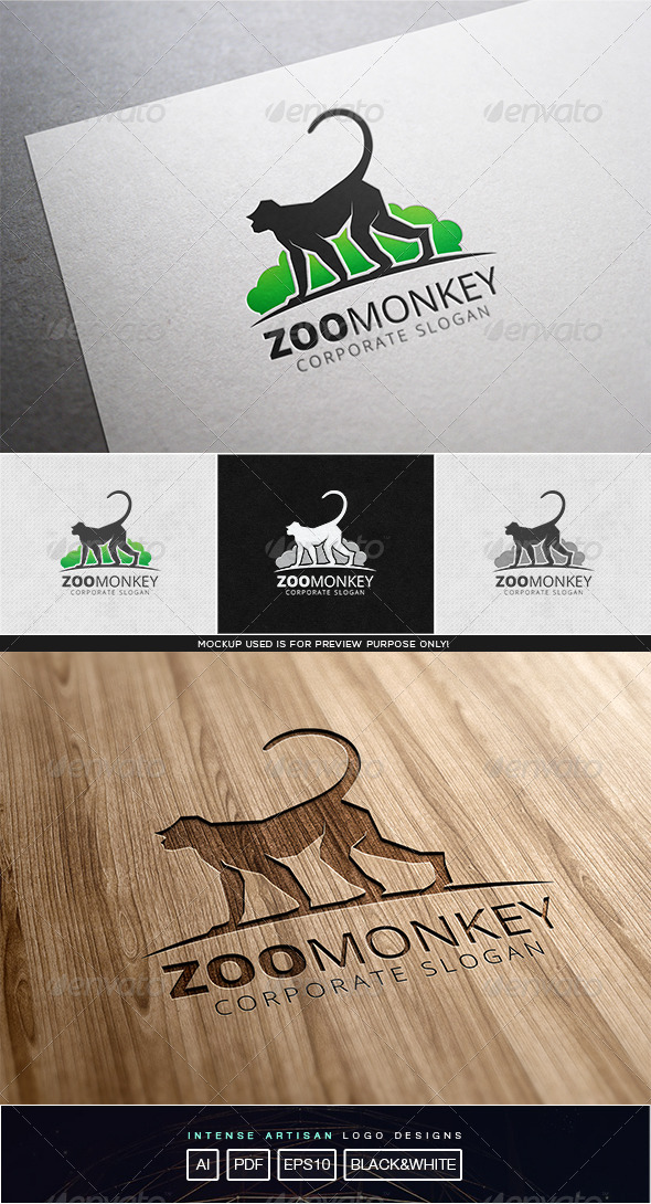 GraphicRiver Zoo Monkey Logo Template 8119085