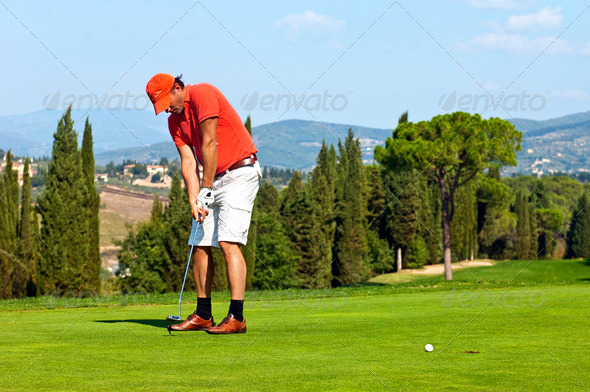 Golf put - Stock Photo - Images