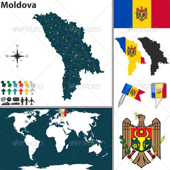 GraphicRiver Map of Moldova 8119747