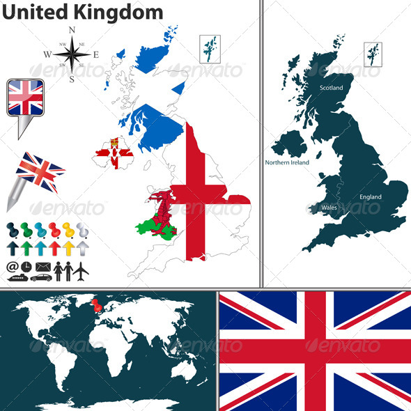 GraphicRiver Map of United Kingdom 8119755