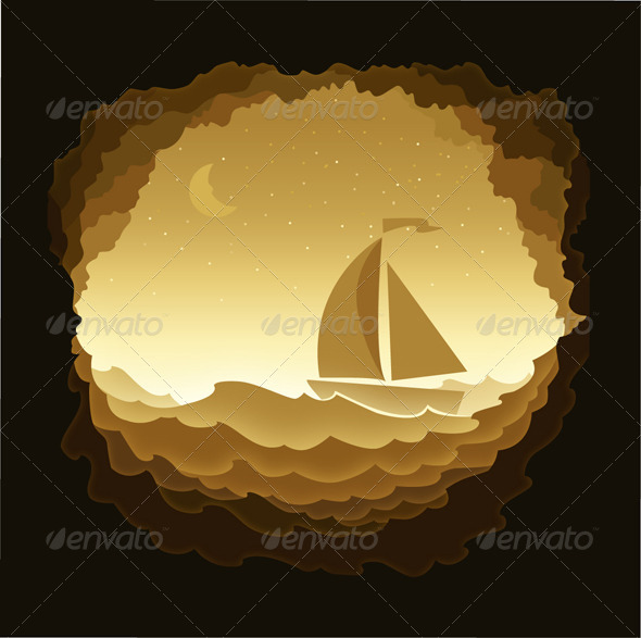 GraphicRiver Moonlit Night 8119825