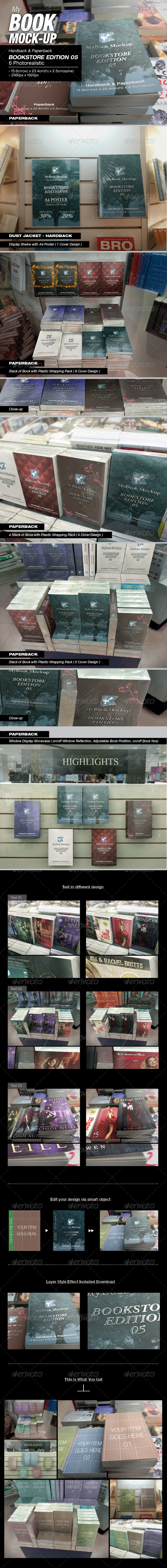 GraphicRiver MyBook Mock-up Bookstore Edition 05 8119884