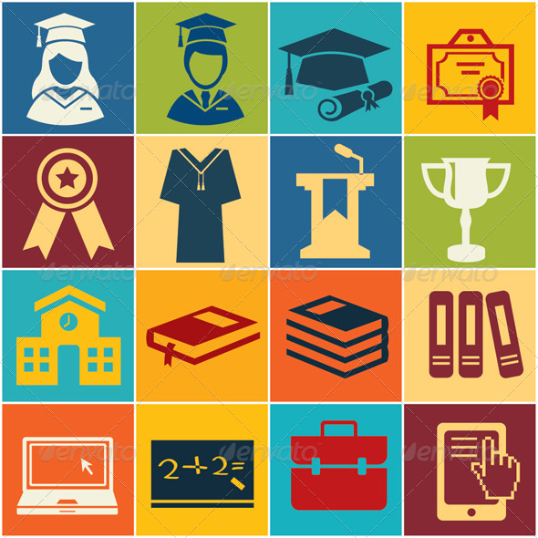 GraphicRiver Icon Education 8119917