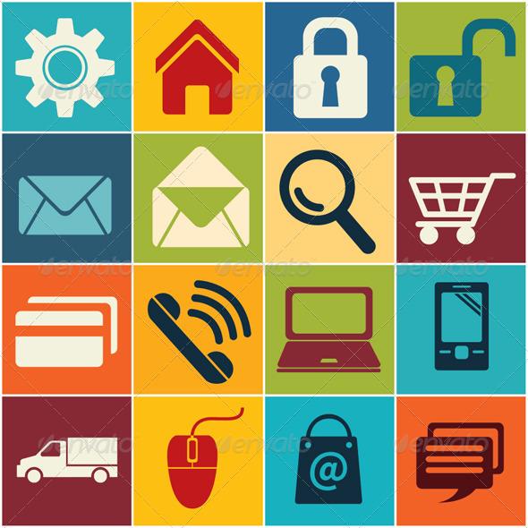 GraphicRiver Icon E commerce and Shopping 8119931