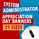 System Administrator Appreciation Day Banners - GraphicRiver Item for Sale