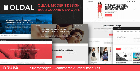 Image of Oldal - Business & eCommerce Drupal Theme