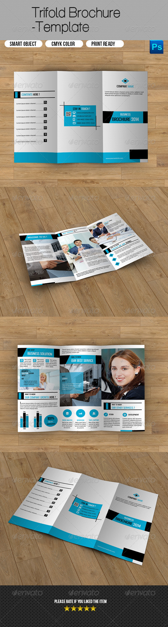 GraphicRiver Trifold Business Brochure 8120251
