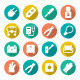 Set Round Flat Icons of Electricity - GraphicRiver Item for Sale