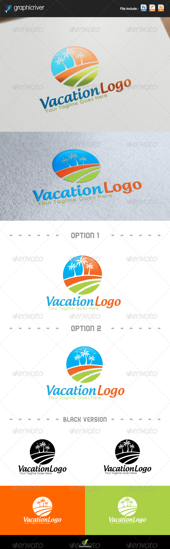 GraphicRiver Vacations Logo 8120450