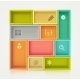Colorful Shelves for Design - GraphicRiver Item for Sale