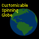 Customisable Animated Globe - ActiveDen Item for Sale