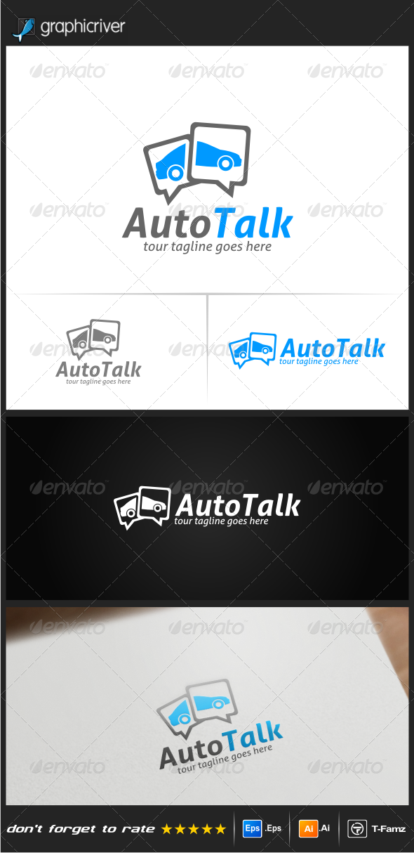 GraphicRiver Auto Talk Logo Templates 8120615