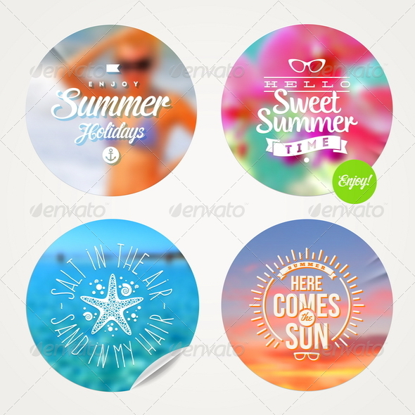 GraphicRiver Summer Holidays and Tropical Vacation Set 8120621