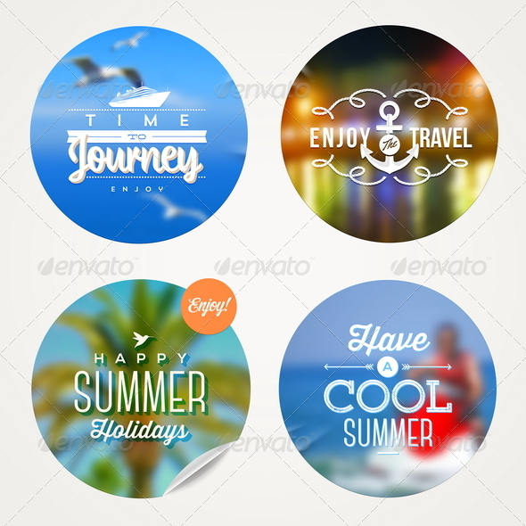 GraphicRiver Summer Travel and Vacation Set 8120625