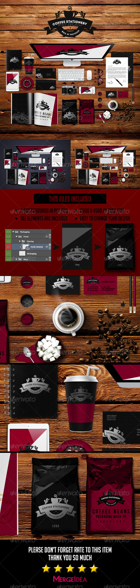 GraphicRiver Coffee Stationery Mockup 8119885