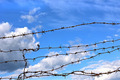Barbed wire against blue sky - PhotoDune Item for Sale