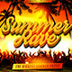 Summer Rave Flyer Template - GraphicRiver Item for Sale