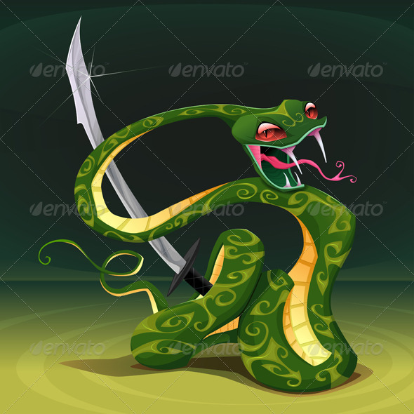 GraphicRiver Poisonous Snake with Saber 8121943