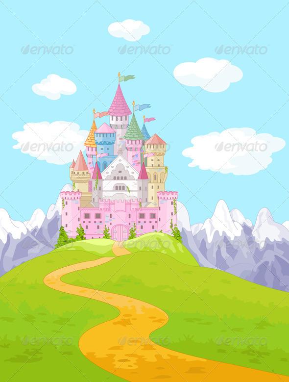 GraphicRiver Fairy Tale Castle Landscape 8121974