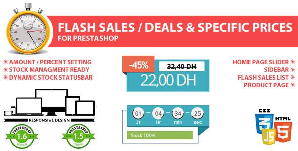 CodeCanyon Flash sales deal & specific prices for prestashop 8122210