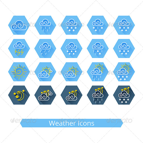 GraphicRiver Weather Icons Set 8122227