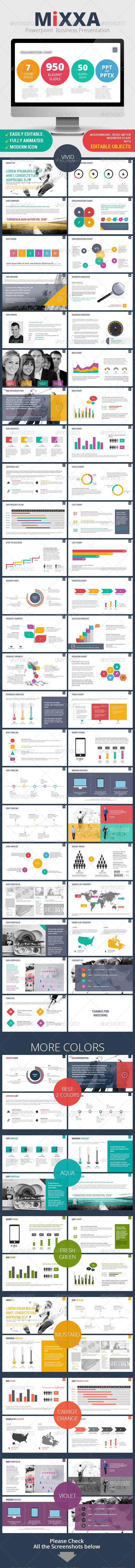 GraphicRiver Mixxa Business Powerpoint Presentation 8083619