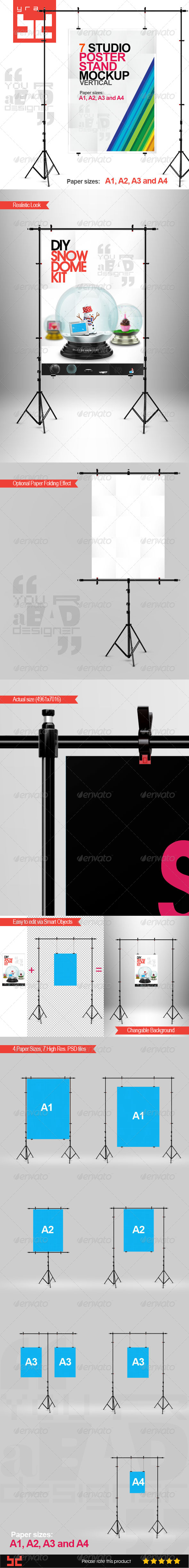 GraphicRiver Poster Mock-ups Vertical 8122527