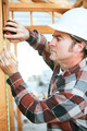 Construction Worker Takes Measurement - PhotoDune Item for Sale
