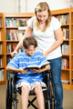 Library - Disabled Boy - PhotoDune Item for Sale