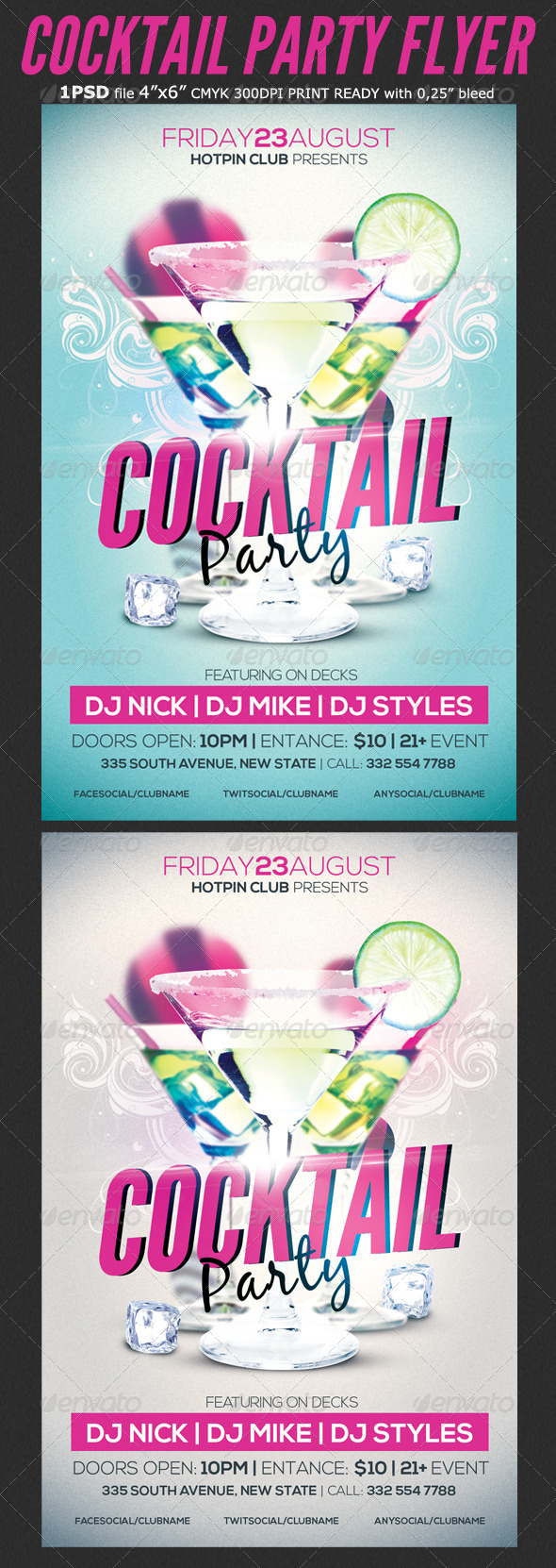 Cocktail Party Flyer Template 2 - Clubs & Parties Events