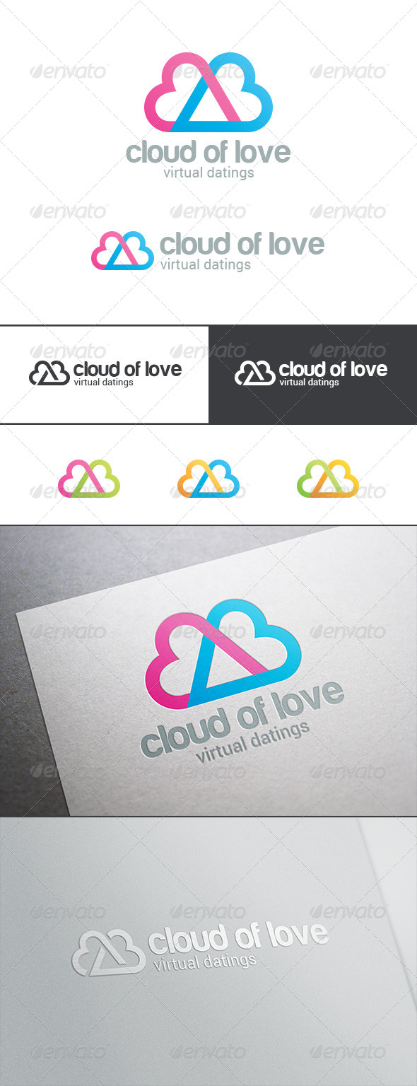 GraphicRiver Dating Love Cloud Logo 8123109
