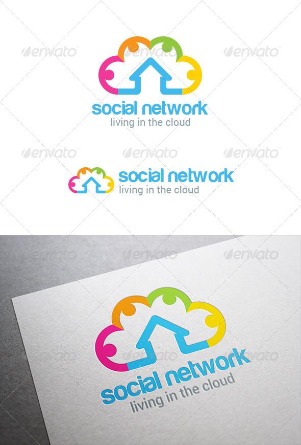 GraphicRiver Social Cloud Computing Logo 8123119