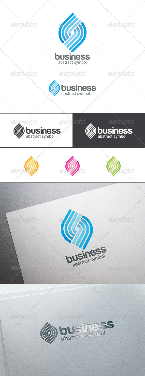 GraphicRiver Labyrinth Maze Puzzle Rebus Logo Abstract 8123122