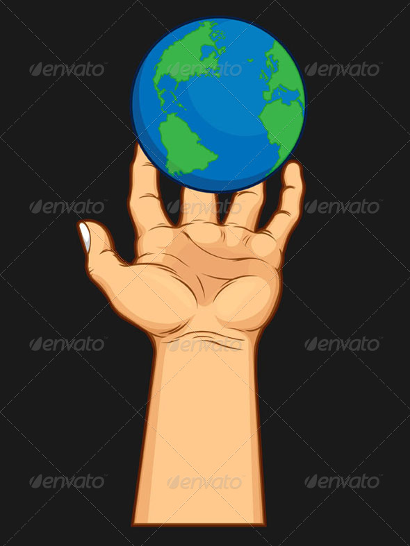 GraphicRiver Hand Grasping the World 8071193