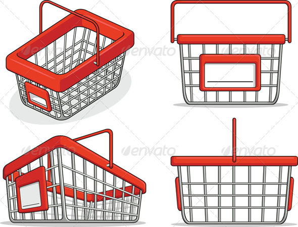 GraphicRiver Shopping Basket Set 8071521