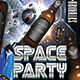 Space Party (Flyer Template 4x6) - GraphicRiver Item for Sale
