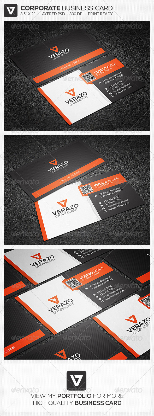 GraphicRiver Modern Corporate Business Card 44 8123424
