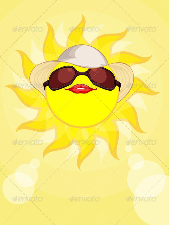 GraphicRiver Sun Summer Holiday Woman 8071561