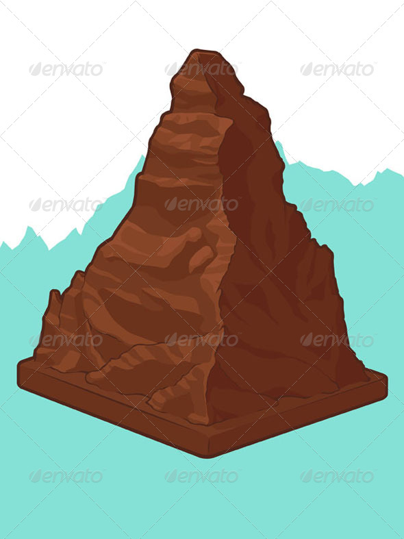 GraphicRiver Swiss Chocolate in Matterhorn Shape 8071562