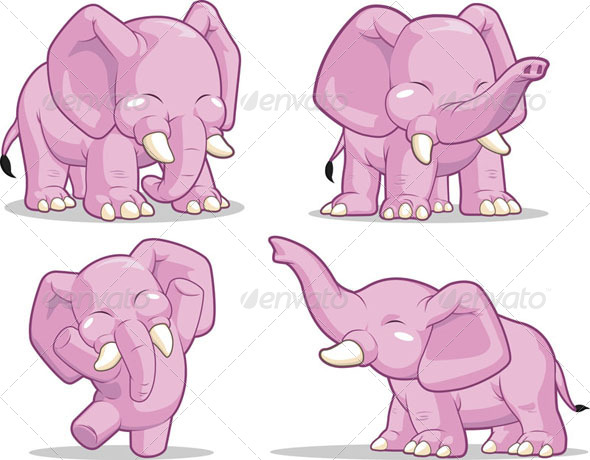 GraphicRiver Elephant in Several Poses 8071120