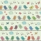 Seamless Pattern of Cartoon Birds - GraphicRiver Item for Sale