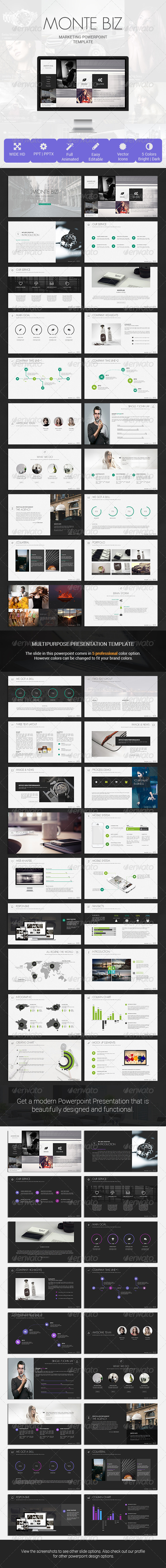 GraphicRiver Monte Biz Presentation Template 8123649