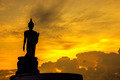 Black silhouette of Buddha statue, Thailand. - PhotoDune Item for Sale