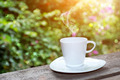morning coffee with white glass. - PhotoDune Item for Sale