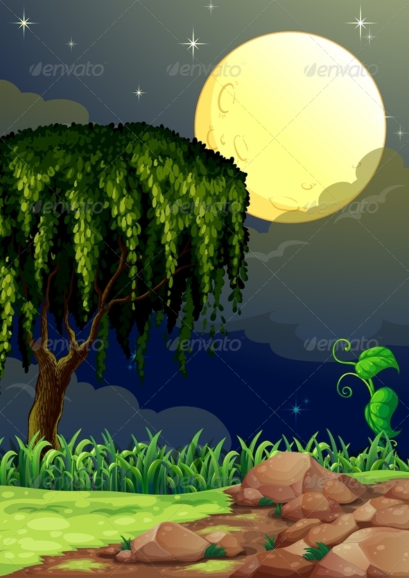 GraphicRiver Forest at Night 8124172