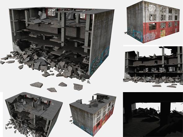 3DOcean Building Ruin 8124221