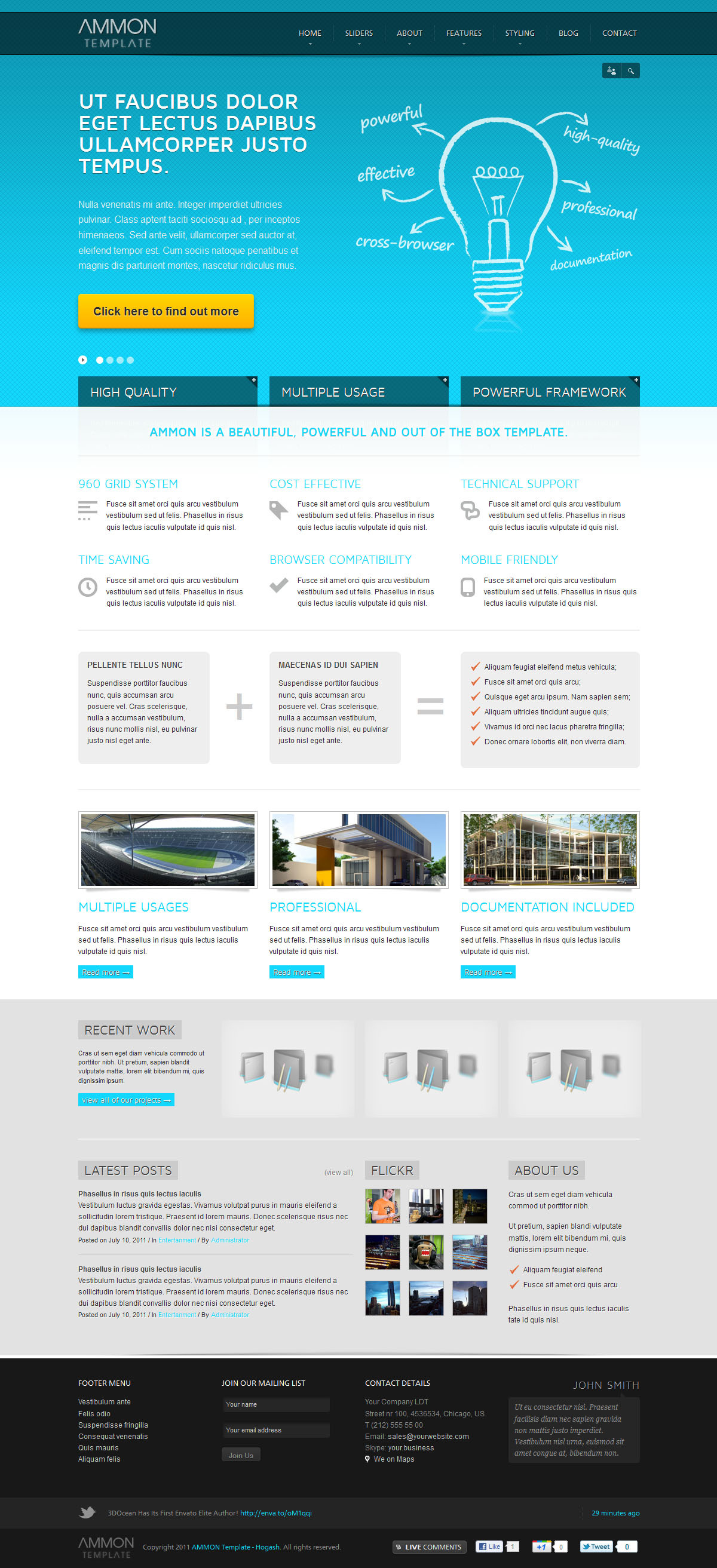 Ammon Responsive Template for Joomla - GENERAL PAGE - HOMEPAGE - ANYTHING SLIDER