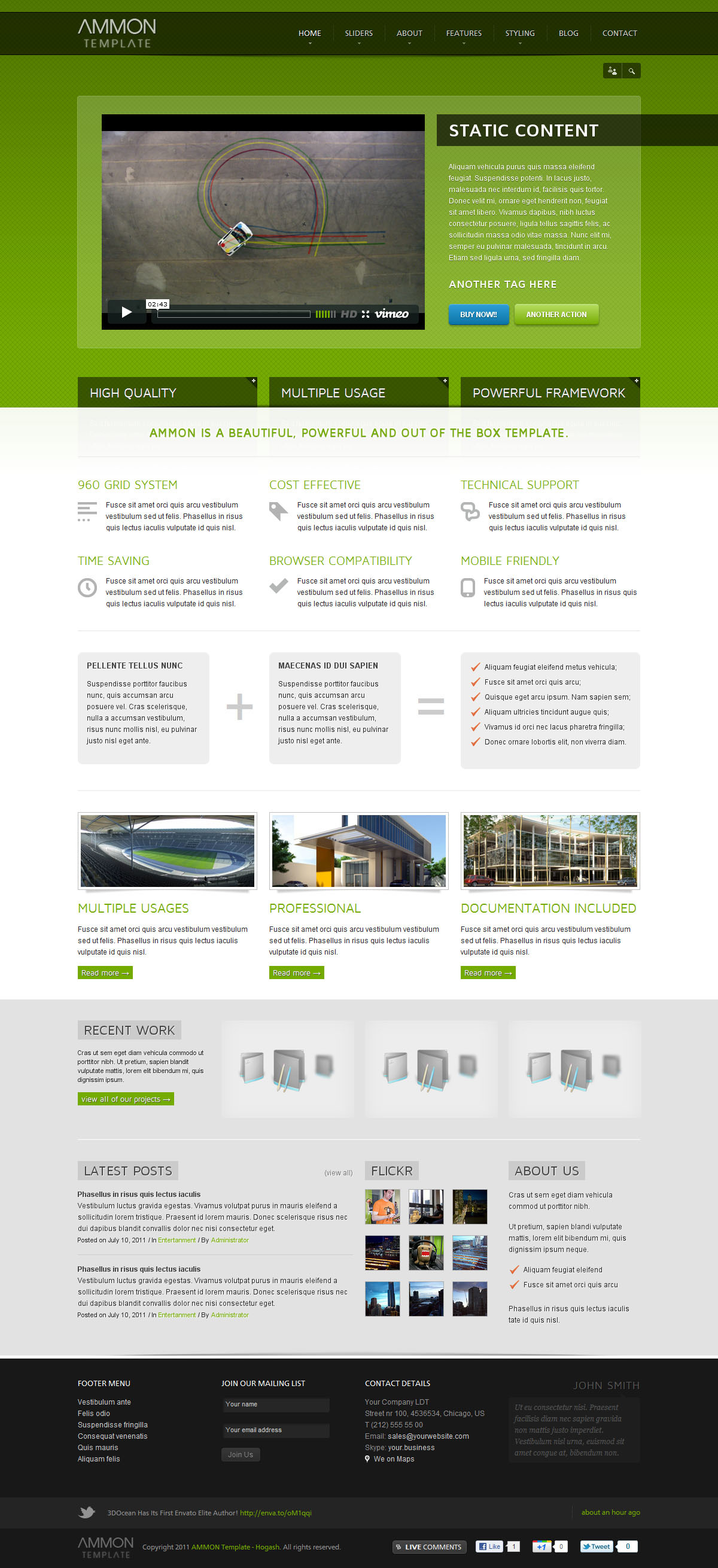 Ammon Responsive Template for Joomla - GENERAL PAGE - STATIC CONTENT